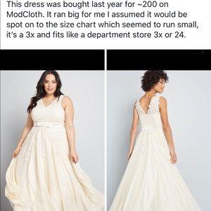 Modcloth Wedding Dress.Modcloth Wedding Dress Nwt
